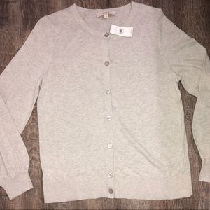 NWT   LOFT Blouson Sleeve Button Down Cardigan
